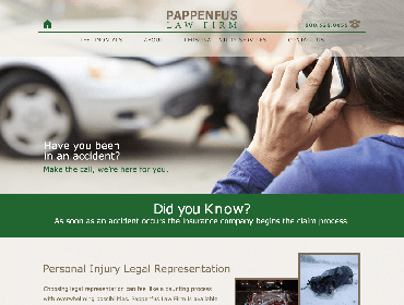 Pappenfus Law Firm Website